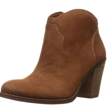 Lucky Brand Eller Toffee Leather Booties