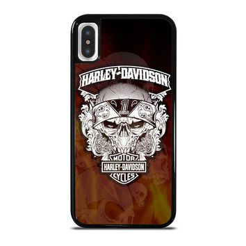 HARLEY DAVIDSON FLAME LOGO iPhone X Case Cover