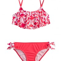 Flamingo Flounce Bikini Swimsuit