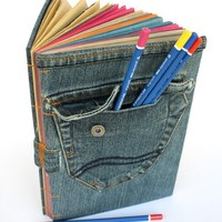 Denim Jeans Book by buechertiger on Etsy