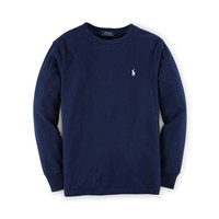 Cotton Long-Sleeve Crew Tee