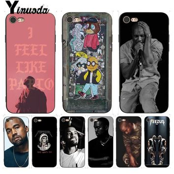 Yinuoda For iphone 7 6 X Case Kanye Omari West Luxury Phone Accessories Case for iPhone 7 6 X 8 6s Plus 5 5S SE XR XS XSMAX Case