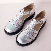 Missguided - Holographic Geek Shoes