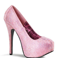 Teeze Baby Pink Iridescent Platform Pump by Bordello Shoes