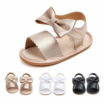 Newborn Baby Girl Summer Sandals Anti-slip Prewalker Kid Soft Sole Crib Shoes