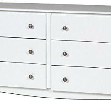 White 6 Drawer Dresser With Double Sided