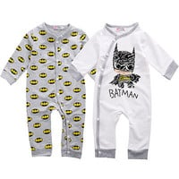 Spring Cotton Clothes 0-18M Baby romper Newborn Baby Girls Boy Batman Rompers Playsuit One-pieces Outfits Autumn