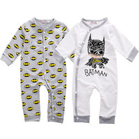 Baby romper Newborn Baby Girls Boy Batman Rompers Playsuit One-pieces Outfits Autumn Spring Cotton Clothes 0-18M