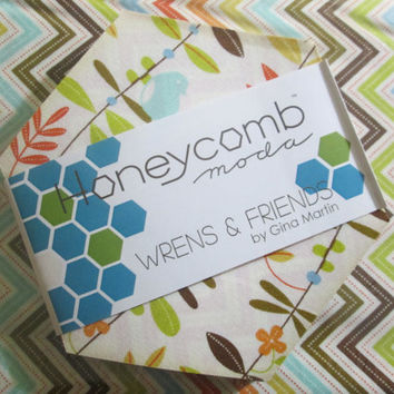 """Fabric Sale! 6"""" Hexagon fabric, Hexies, Honeycombs, Chevron fabric, Floral fabric, Hexagons WITH plastic template for paper piecing!"""