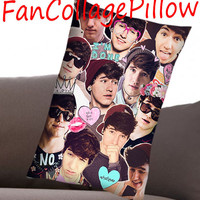 """Custom Pillow Cases Jc Caylen  collage art,available size 18"""" x 18"""", 16"""" x 24"""", 20"""" x 30"""" one side and two side cover"""