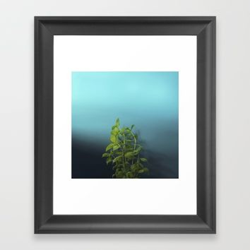 Shy and charming basil Framed Art Print by josemanuelerre