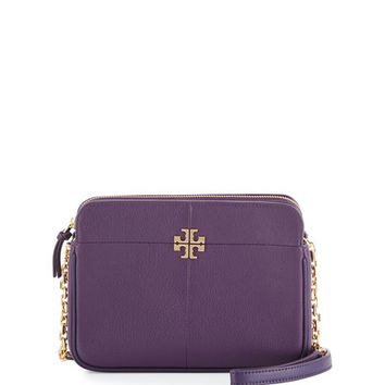 Tory Burch Ivy Leather Crossbody Bag, Night Shade