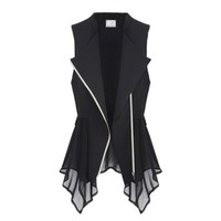 Womens Chiffon Casual Blouse Vest