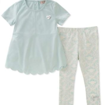 Juicy Couture Baby Girls' Top and Legging Set 24M Light Blue