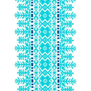 Robert Allen Fabric 228056 Aztec City Turquoise