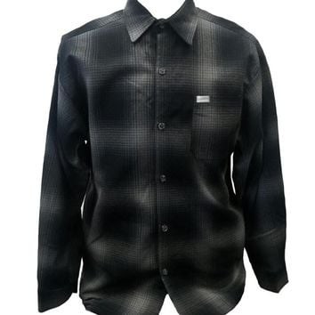 Charcoal Grey Long Sleeve Flannel Shirt