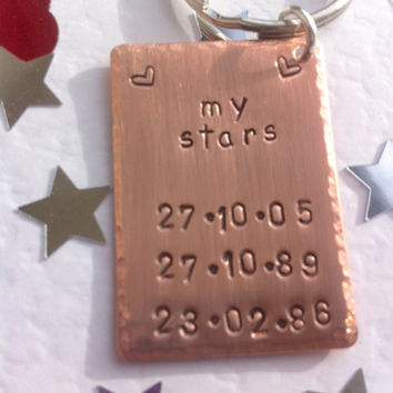 Custom Date keyring   Daddy's keys   Mummy keyring   Gift for dad   Gift for mum   Grandparents gifts   Personalised dad gift   Key chain