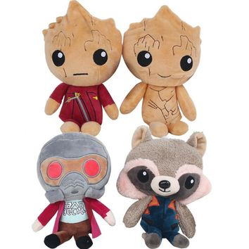 Guardians of the Galaxy Vol.2 Baby Groot Star-Lord Rocket Raccoon Plush Soft Dolls Toy gift 22cm Kid's gift halloween