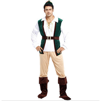 Halloween Cosplay Hunter Costumes Forest Prince
