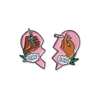 Best Buds Pin Set- Pink/Brown