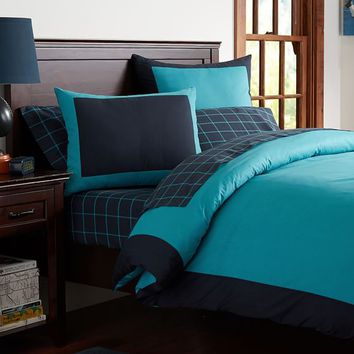 Colorblock Reversible Duvet Cover + Sham