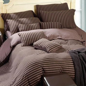 ac PEAPON On Sale Bedroom Hot Deal Bedding Cotton Knit Bedding Set [45978976281]