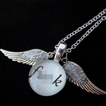 Mature Sparkly Flying F Necklace by trophies on Etsy