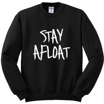 "Justin Bieber ""Cold Water / Stay Afloat"" Crewneck Sweatshirt"