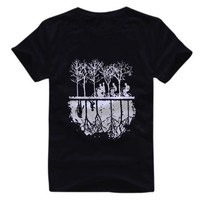 Stranger Things Silhouette Chase Men'S T Shirt