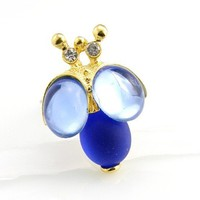 LIMITED EDITION Blue Bumble Bee Ring by TrinketsNWhatnots on Etsy