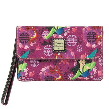 Disney Dooney & Bourke 20th Anniversary Mulan Wristlet Bag New with Tags