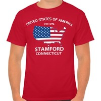 USA EST. 1776 STAMFORD CONNECTICUT TEE
