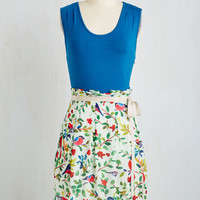 Bird Mid-length Sleeveless A-line Scenic Road Trip Dress in Birds by Pink Martini from ModCloth