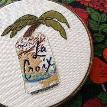 Coconut La Croix Embroidery