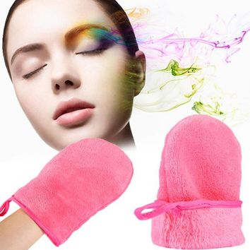 Profession 1PCS Reusable Microfiber Facial Cloth Face Towel Makeup Remover Cleansing Glove Tool High Quality