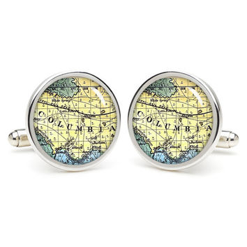 Columbia  city map cufflinks , wedding gift ideas for groom,perfect gift for dad,great gift ideas for men,groomsmen cufflinks,presents  gift