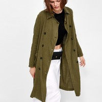 LINEN TRENCH COAT - View All-OUTERWEAR-WOMAN | ZARA United Kingdom