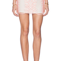 Taluca Mini Skirt in Neon Coral
