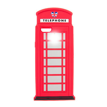 3D Light Up London Phone Booth Cover for iPhone 6