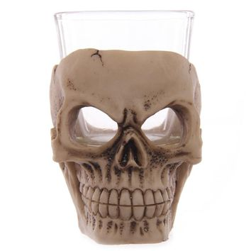 Skull Gothic Tea Light Candle Holder Reaper Death Skull