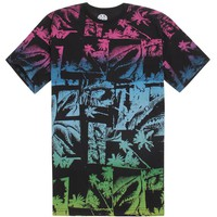 Rainbow Shark T-Shirt - Mens Tee - Black -