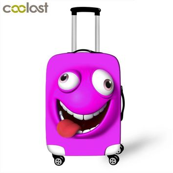 Cartoon Face Luggage Protective Covers Cute Suitcase Cover For Travel 18 to 28 Inch Trolley Luggage Cover Dust Protection