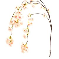 """Artificial Cherry Blossom Branch in Light Pink - 42"""" Tall"""