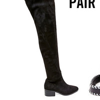 Black Suede Over the Knee Boots | Steve Madden GABRIANA