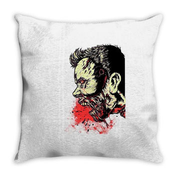 zombie bite Throw Pillow
