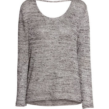 H&M - Oversized Sweater - Black melange - Ladies
