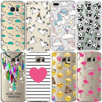 Flamingo Case For Couqe iPhone 7 Plus 5S 5C SE 6 6S Cover for Samsung Galaxy Grand Prime J3 J5 A3 A5 2016 2017 S5 S6 S7 Edge