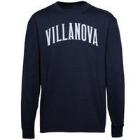 Villanova Wildcats Navy Blue Vertical Arch Long Sleeve T-Shirt