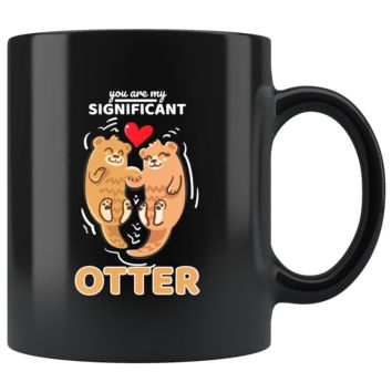 Sea Otter,Romantic,Love Significant Otters Couples Mug - Otter Half, Marine Mammal 11oz Coffee Mug - Love and Unity with this Sea Otter in a Good Quality and Shiny Mug