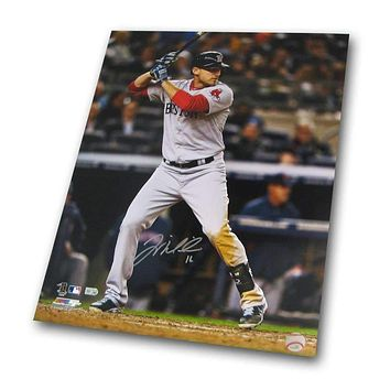 Major League Baseball-Autographed Will Middlebrooks 16-by-20 Inch Unframed Batting Photo